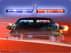 Led emergency vehicle lights police lights led equipped interior led visor light bars aloadofball Gallery