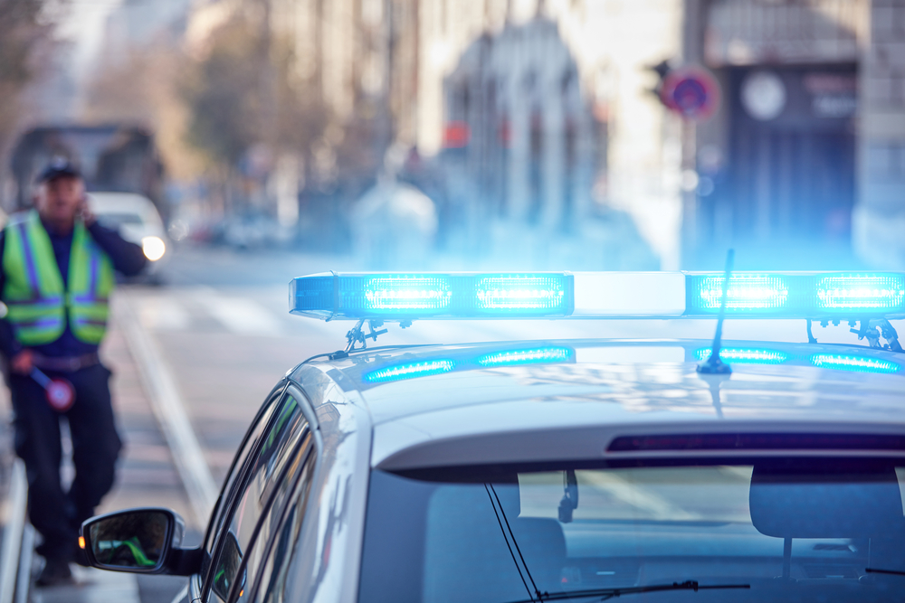 Law enforcement vehicle LED lights